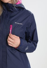 Columbia - POURING ADVENTURE JACKET - Hardshell jacket - dark blue - 4