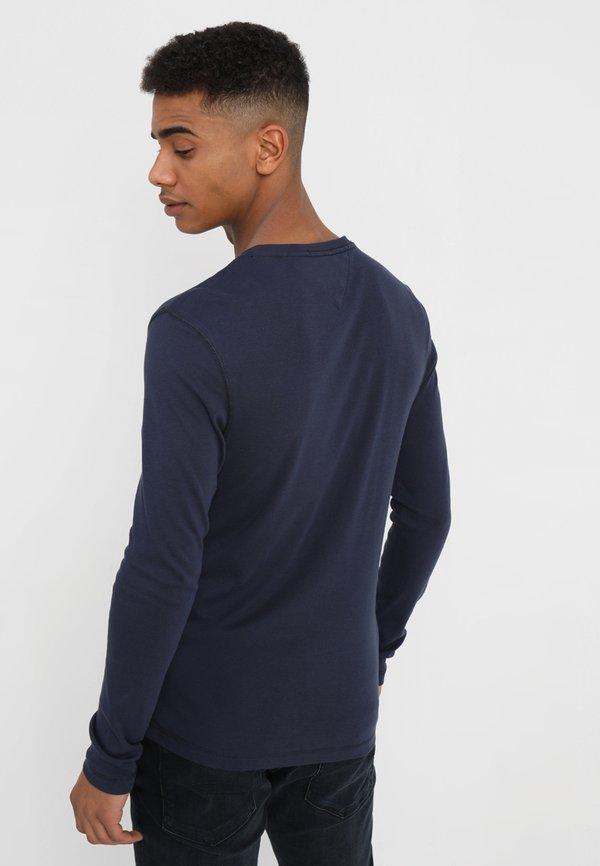 Tommy Jeans ORIGINAL SLIM FIT - Bluzka z długim rękawem - black iris/granatowy Odzież Męska GVDS