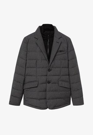 JOE - Down jacket - dunkelgrau meliert
