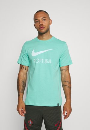 PORTUGAL FPF TEE GROUND - Voetbalshirt - Land - mint