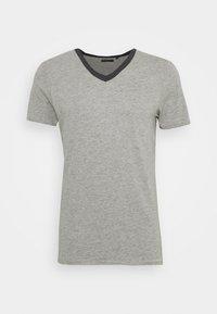 light grey/dark charcoal