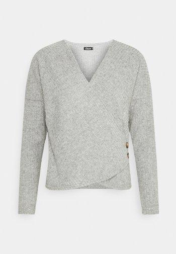 LAURYL LOUNGEWEAR - Pyjama top - gris
