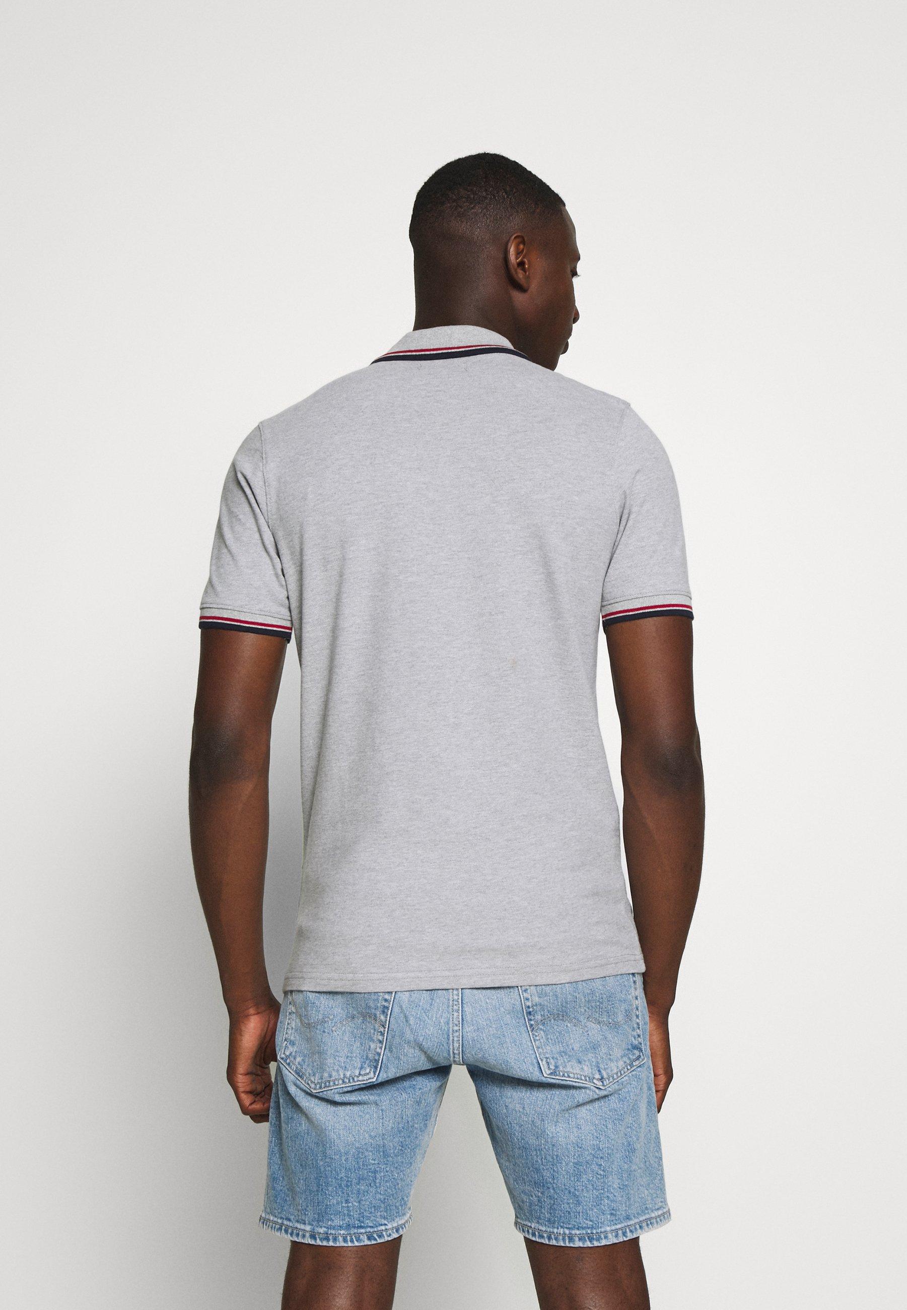 Jack & Jones JJENOAH - Polo shirt - light grey melange 0a9Fr