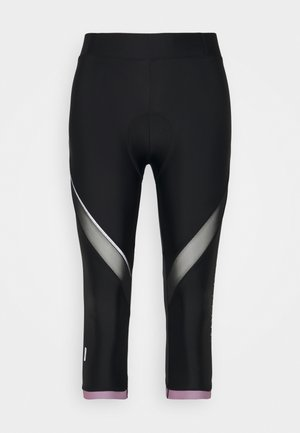 ONPPERFORMANCE BIKE - 3/4 sports trousers - black/elderberry