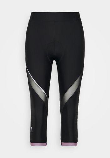 ONPPERFORMANCE BIKE - 3/4 sports trousers - black/elderberry