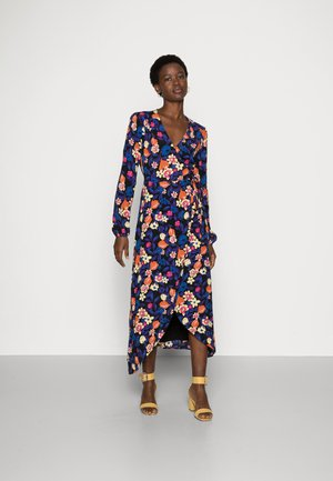 NATASJA DRESS - Długa sukienka - black/citron
