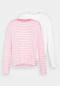 2 PACK - Langærmede T-shirts - white