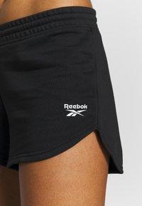 Reebok - FRENCH TERRY ELEMENTS SPORT SHORTS - Pantalón corto de deporte - black - 4