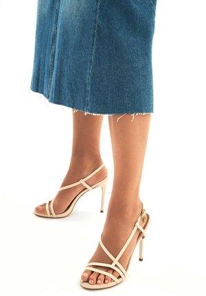LAZURITE - High heeled sandals - beige