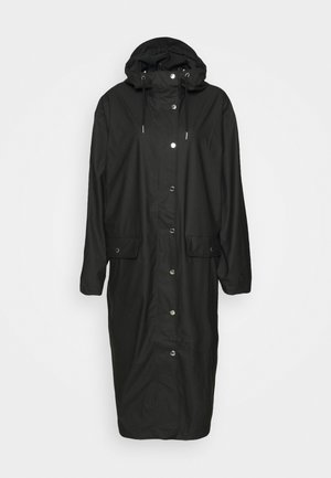 STALA LONG JACKET - Regnjakke - black