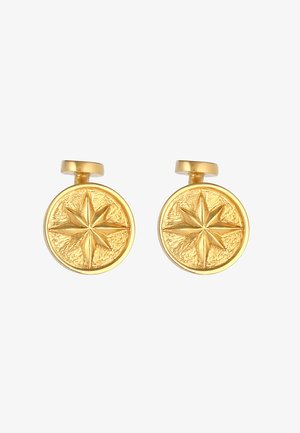 KOMPASS WINDROSE SYMBOL MARITIM MASSIV  - Cufflinks - gold