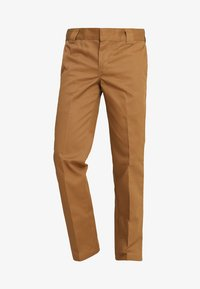 873 SLIM STRAIGHT WORK PANT - Trousers - brown duck