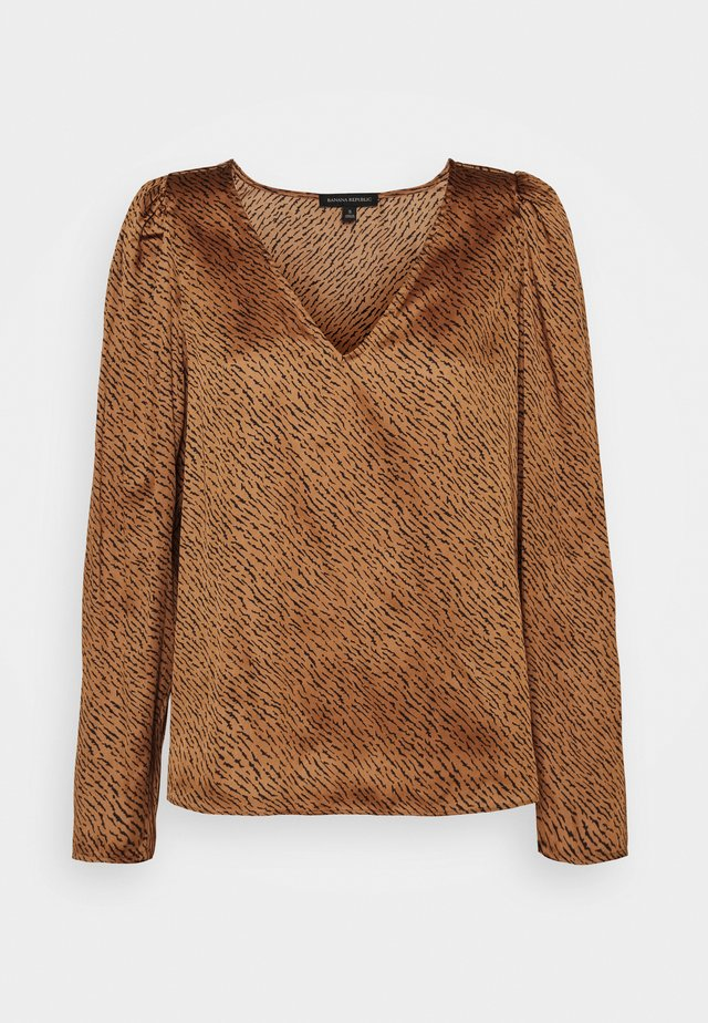 PUFF SLEEVE SOFT - Blouse - camel