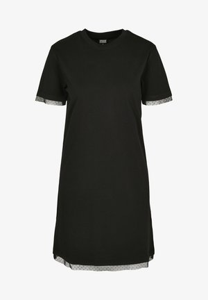 BOXY LACE  - Robe en jersey - black