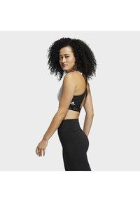 adidas Performance - Medium support sports bra - white/black - 3