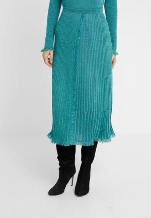 BROOKLYN - A-line skirt - blue spruce
