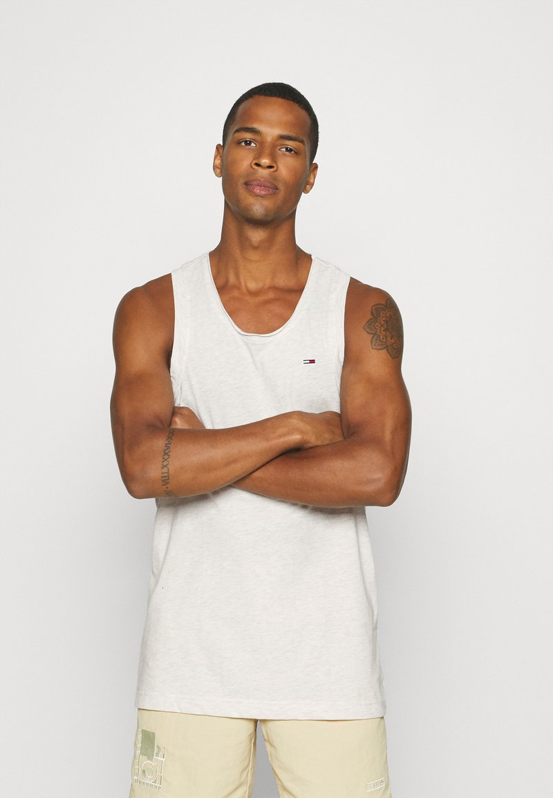 Tommy Jeans - RACER BACK TANK - Top - white