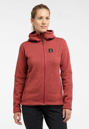 Fleece jacket - brick red