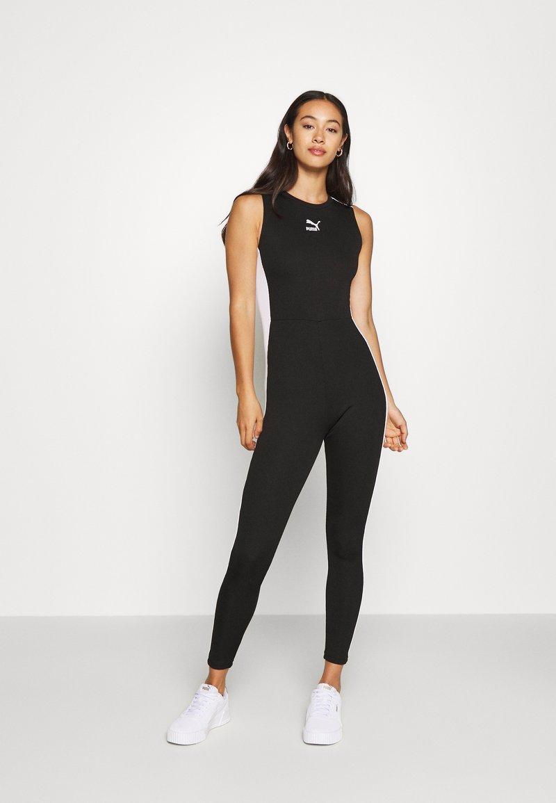 Puma - CLASSICS SHORTSLEEVE TIGHT - Jumpsuit - black