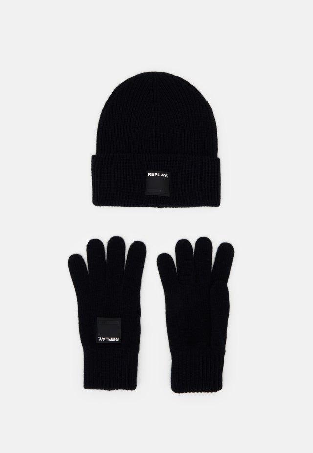 GLOVE HAT SET - Rękawiczki pięciopalcowe - dark blue