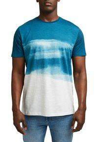 Esprit - FASHION SLUB - Print T-shirt - petrol blue - 6