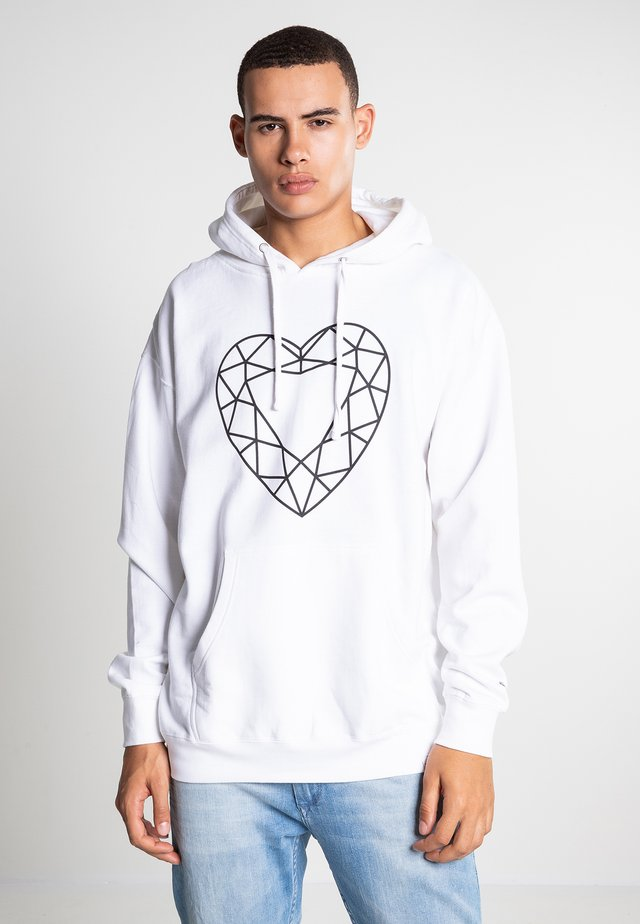 HEART CUT - Hoodie - white