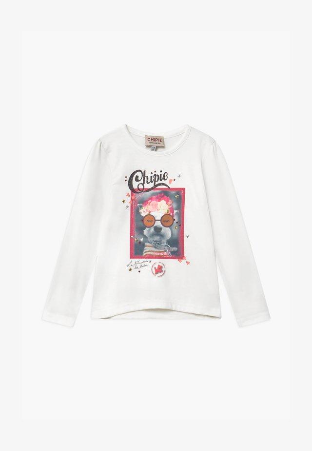 TEE - T-shirt à manches longues - blanc cassé
