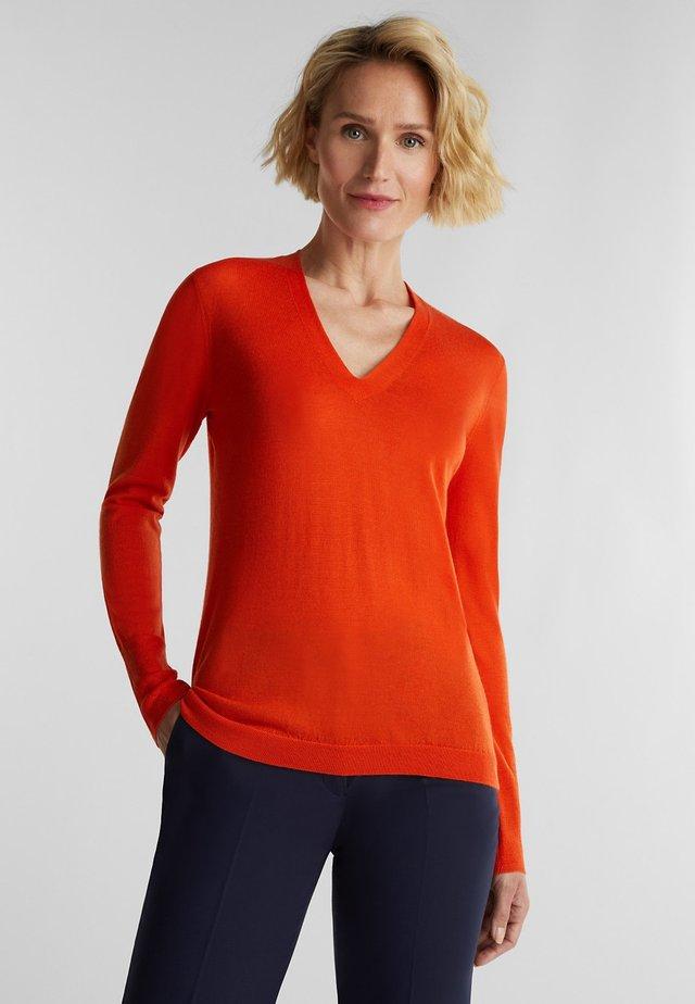 Pullover - rust orange
