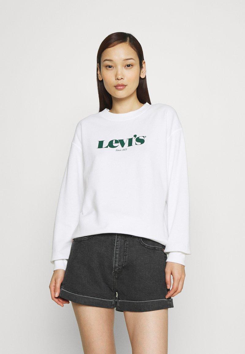 Levi's® - GRAPHIC STANDARD CREW - Felpa - white
