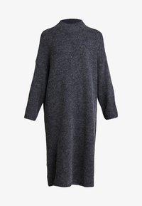 Monki - MALVA DRESS - Pletené šaty - grey dark unique - 5