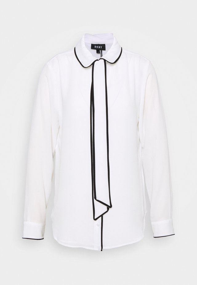 COLLARED - Button-down blouse - white/black