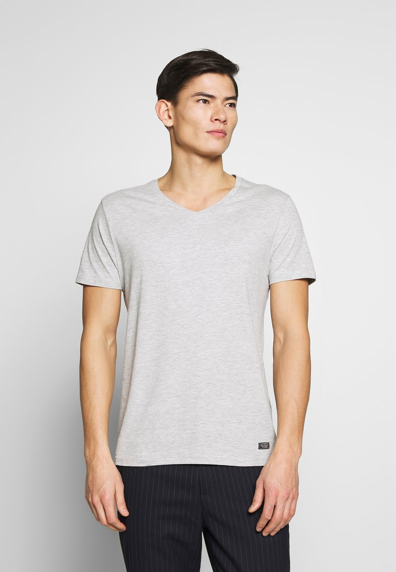 Pier One - Camiseta básica - mottled light grey