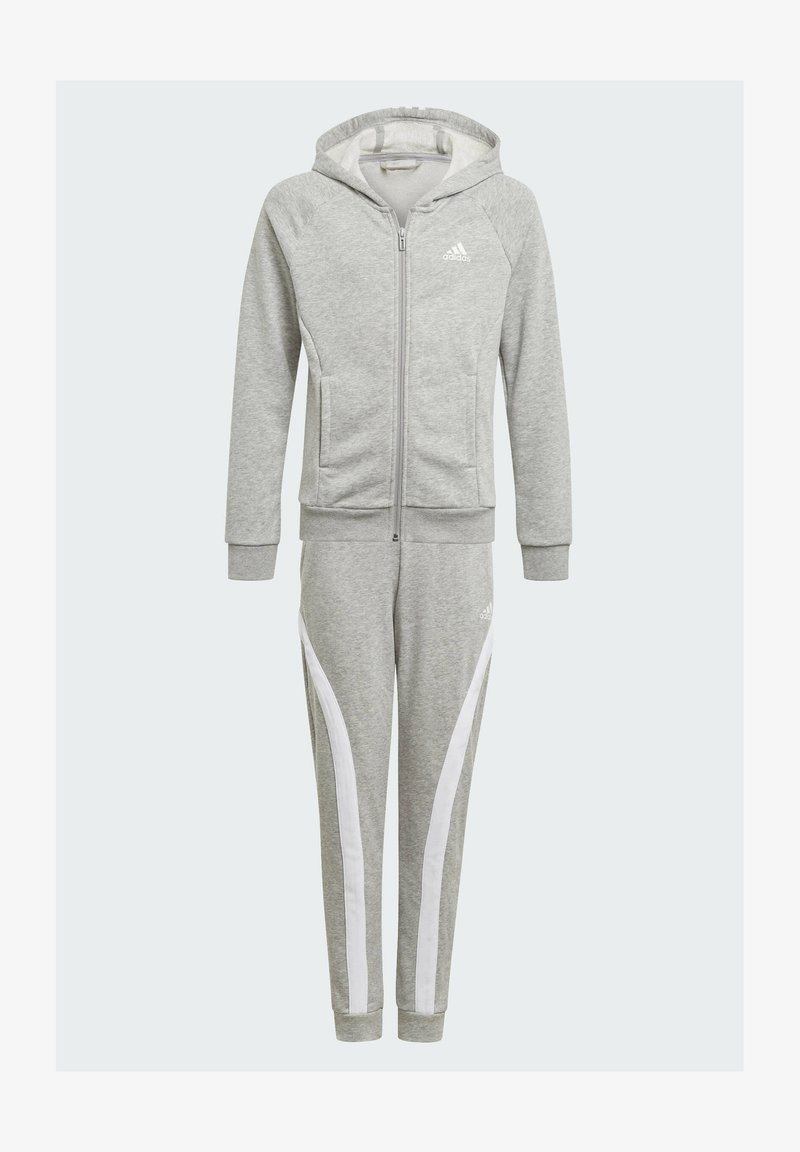 adidas Performance - BOLD HOODED TRACKSUIT - Tracksuit bottoms - grey