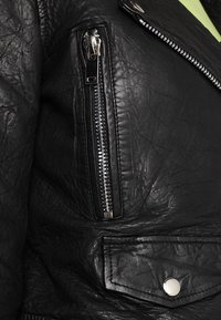 Noisy May - NMNORA JACKET - Kožená bunda - black - 5