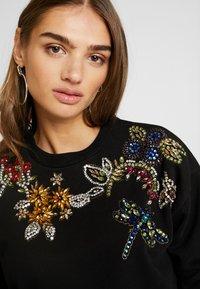 Topshop - FLOWER - Sweatshirt - black - 5