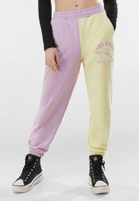 Bershka - Teplákové kalhoty - mauve - 0