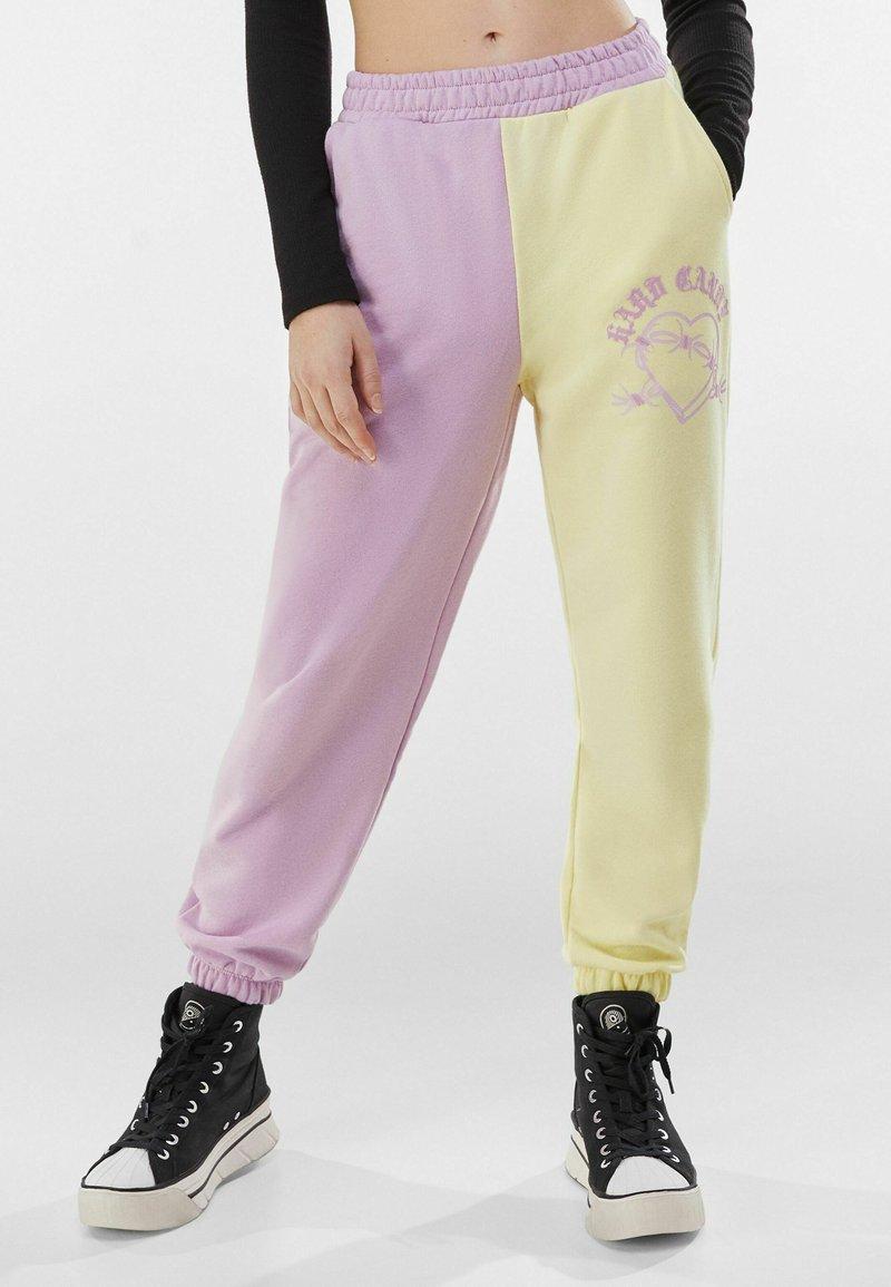 Bershka - Teplákové kalhoty - mauve