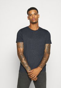 Burton Menswear London - SHORT SLEEVE CREW 5 PACK - T-shirt basic - burgundy/olive - 4