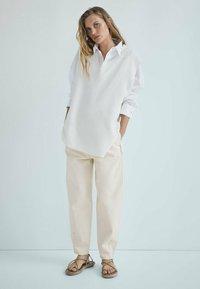 Massimo Dutti - Trousers - beige - 2