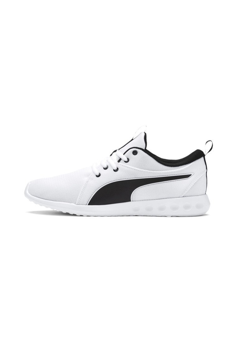 Puma - CARSON - Neutral running shoes -  white-metallic gold