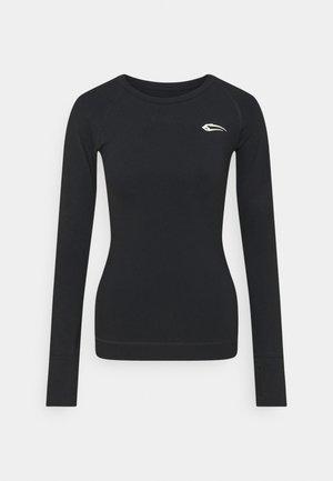 DAMEN LONGSLEEVE - Camiseta de manga larga - schwarz