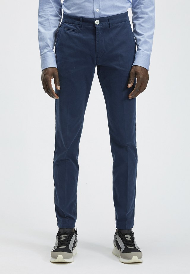 Pantalones chinos - navy blue