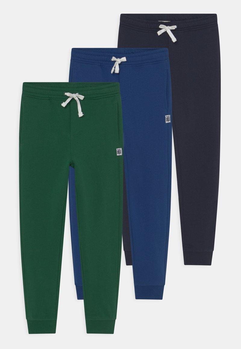 OVS - KID 3 PACK - Spodnie treningowe - green/dark blue/blue