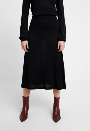MARY SKIRT - A-line skirt - pitch black