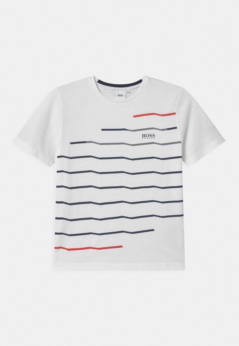 BOSS Kidswear - SHORT SLEEVES  - Triko spotiskem - white
