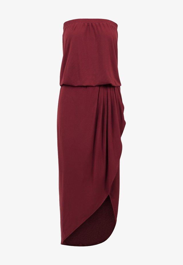 Długa sukienka - burgundy