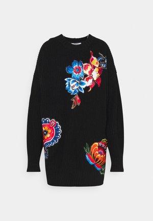 DRESS FLOWER - Jumper dress - black