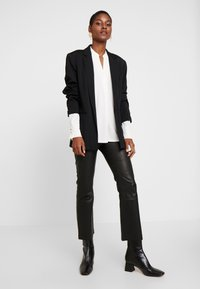 InWear - CEDAR PANT - Leather trousers - black - 1