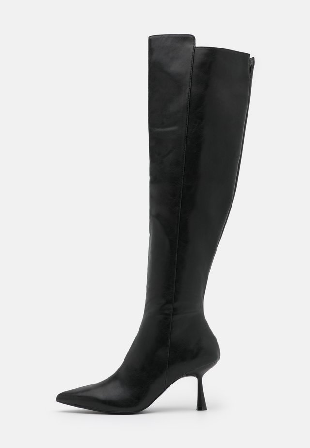 FRONT SEAM TIGHT HIGH BOOTS - Kozačky nad kolena - black