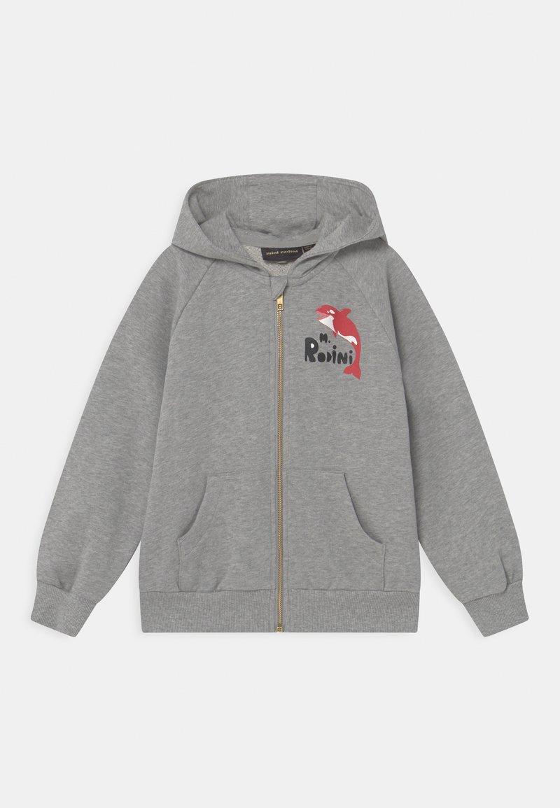 Mini Rodini - ORCA ZIP HOODIE UNISEX - Zip-up hoodie - grey melange